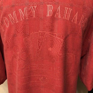 tommy bahama shirt casino printed red size xl